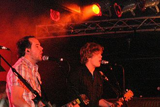 Relient K - Matt Hoopes (left) and Matt Thiessen (right) performing at the Sonar in Baltimore, MD in 2007