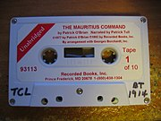 Cassette recording of Patrick O'Brian's The Mauritius Command done by Patrick Tull