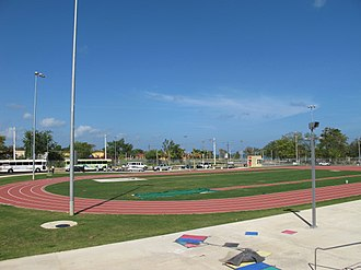 Athletics at the 2010 Central American and Caribbean Games - Image: Mayaguez 2010 track