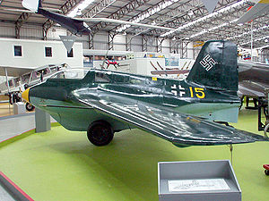 Messerschmitt Me 163 Komet - Me 163 B-1a at the National Museum of Flight in Scotland