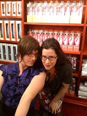 Hitachi Magic Wand - Susie Bright (left) and Rachel Kramer Bussel (right)
