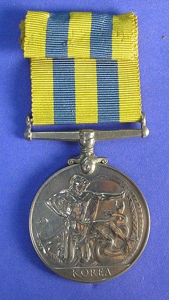 Korea Medal - Image: Medal, campaign (AM 1996.185.10 9)