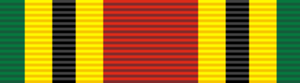 Orders, decorations, and medals of Tanzania - Image: Medal for Valour military (Tanzania) ribbon bar