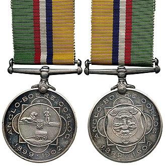 Medalje voor de Anglo-Boere Oorlog - Image: Medalje voor de Anglo Boere Oorlog