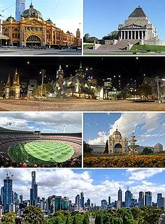 Melbourne City in Victoria, Australia