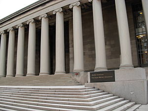 Benno Janssen - Mellon Institute (1937) is known for its monolithic columns, the largest such one-piece columns in the world