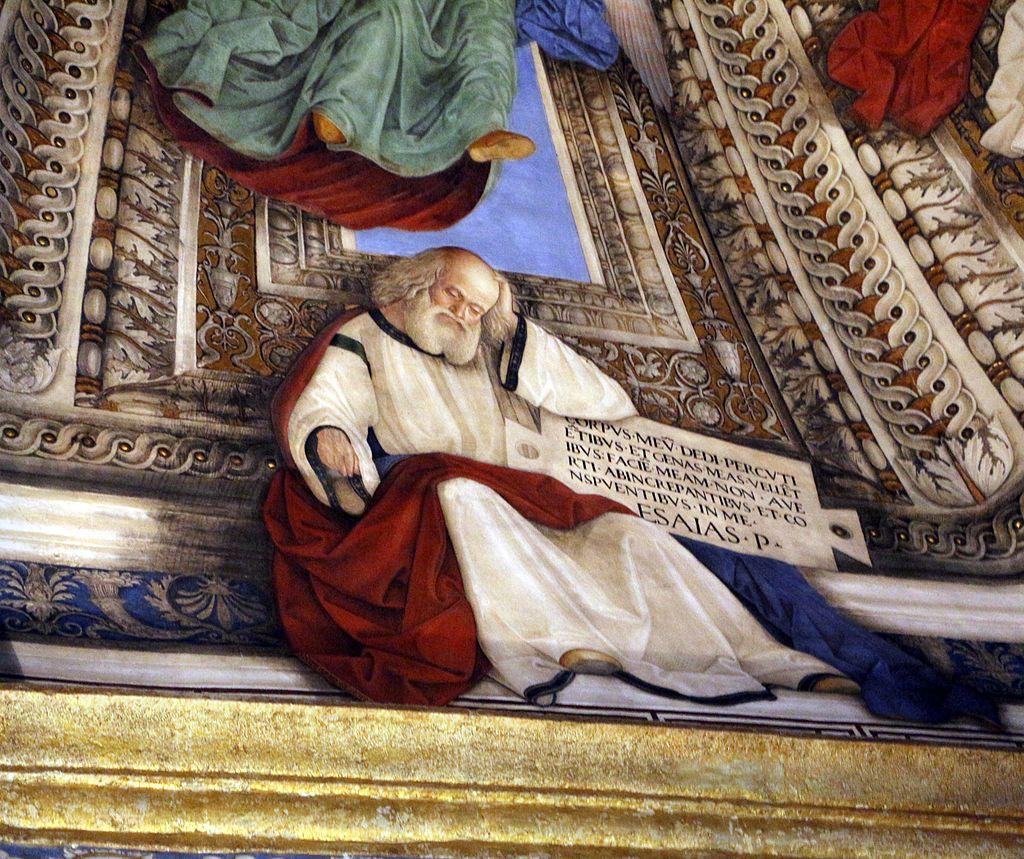 Melozzo da forlì, angeli coi simboli della passione e profeti, 1477 ca., profeta isaia 01.jpg