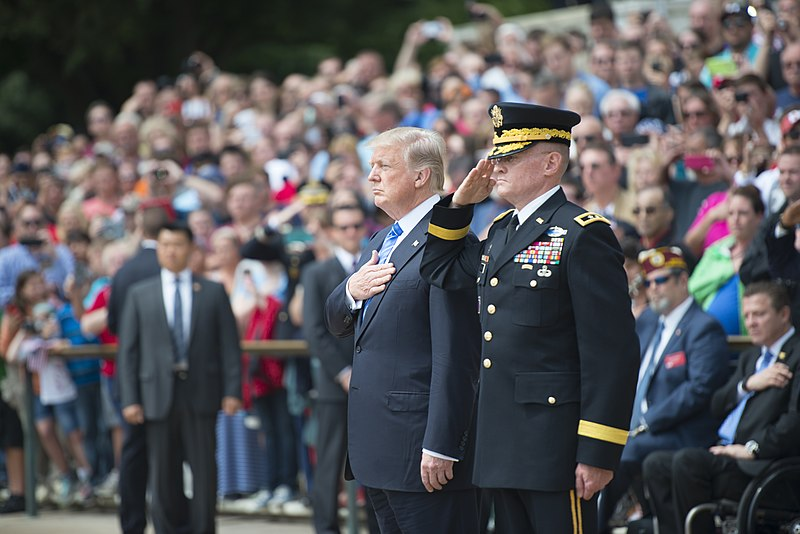 File:Memorial Day Weekend 2017 - President Donald J. Trump Lays a Wreath at the Tomb of the Unknown Soldier (34183419173).jpg