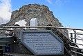 Memorial plaque Edoardo Agnelli (1954 - 2000), Sky Way Mont Blanc, Italy.jpg