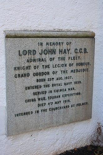 Lord John Hay (Royal Navy officer, born 1827) - Memorial to Lord John Hay, Admiral of the Fleet, Gifford