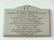 Memorial to Robert Gordon-Finlayson