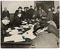 """Men registering as """"Alien Enemies"""" at police station, Seattle, February 1918 (MOHAI 10515).jpg"""