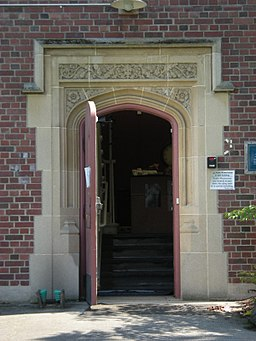 Mercer Island, WA - Luther Burbank School door 01