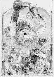 Kuprogravuro de Old Christmas 1847