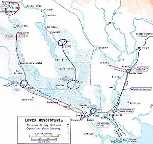 Battle of Shaiba - British offensive into Southern Mesopotamia, 1915.