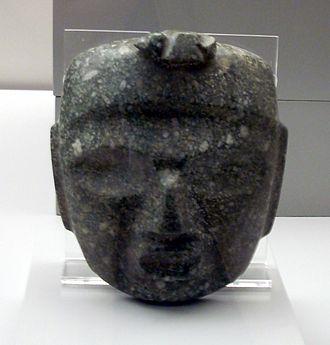 Mezcala culture - Greenstone Mezcala mask in the Museo de América in Madrid