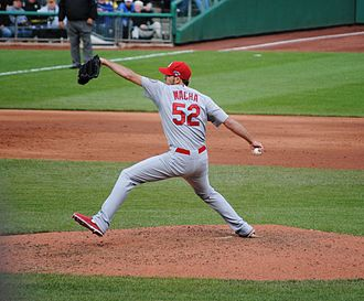 Michael Wacha - Wacha pitching in Game 4 of the 2013 NLDS, October 7, 2013