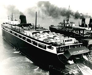 SS City of Midland 41 - Image: Midland at Manitowoc circa. 1950's