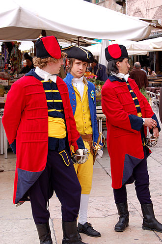 Veronese Easter - Re-enactors of Venetian troops in the piazza delle Erbe