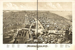 History of Milwaukee - Milwaukee in 1879, looking north