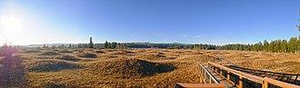 Mima mounds - Image: Mima Mounds Panorama (Olympia,WA)