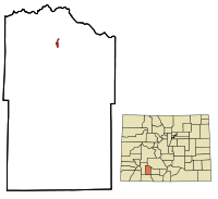 Mineral County Colorado Incorporated and Unincorporated areas Creede Highlighted.svg