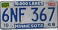 Minnesota 1970 license plate - Number 6NF 367.jpg