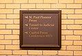 Minnesota State Capitol - Basement Press Corps Signage (34472996511).jpg