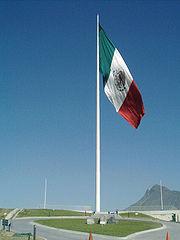 Bandera monumental en el cerro del obispado  Monterrey, Nuevo León.