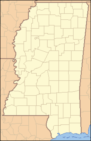 Great River Road State Park - Image: Mississippi Locator Map
