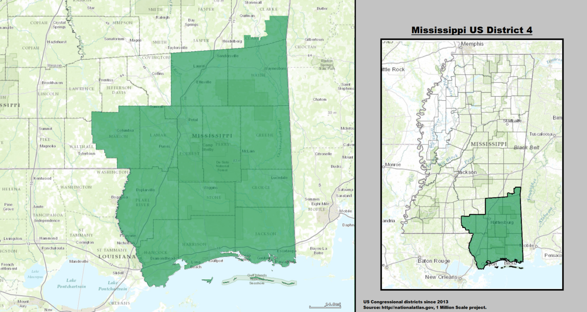 Mississippi's 4th congressional district - Wikipedia