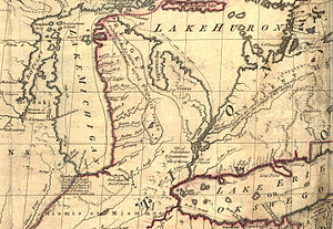 The Mitchell Map Excerpt Showing Michigan Area