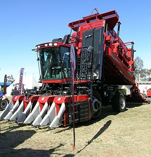 Cotton picker - Case IH Module Express 625 picks cotton and simultaneously builds cotton modules.