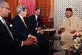 Mohammed VI and John Kerry, Dwight Bush.jpg