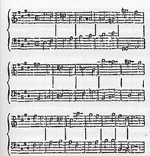 Extract from Rossini's Moïse published in Le Globe, 31 March 1827, in an article by Ludovic Vitet.[n 35] (Source: Wikimedia)