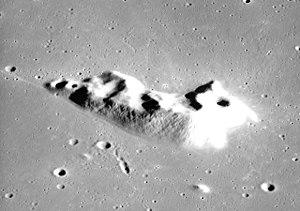 Mons La Hire - Oblique view from Apollo 17