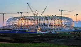 Bouw van het stadion