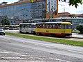 Most, tř. Budovatelů, tram zastávka OD PRIOR, souprava 277 + 249.jpg
