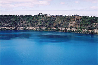 Mount Gambier, South Australia - Blue Lake, Mount Gambier's most popular tourist attraction.