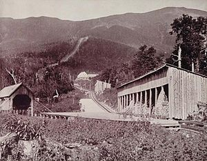 Mount Washington Cog Railway - Track to the summit in 1893