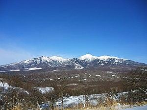 Yatsugatake Mountains - Yatsugatake Mountains, viewed from Minamimaki, Nagano.