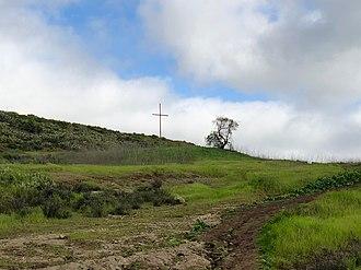California Lutheran University - The cross on Mount Clef Ridge