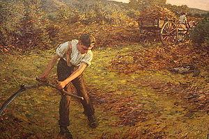 Henry Herbert La Thangue - Mowing Bracken by H H La Thangue (1903; Guildhall Art Gallery, London)