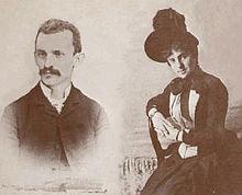Giuseppe Peano e la moglie Carola Crosio nel 1887