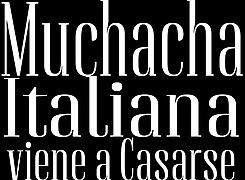chica italiana busca marido telenovela