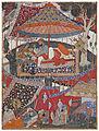 Mughal - A page of the Dastan-i Amir Hamza (Hamzanama) - Google Art Project.jpg
