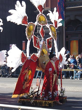 """Mummers Parade - A """"fancy"""" mummer in the 2005 parade"""