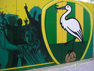 ADO Den Haag - Mural in the new ADO stadium