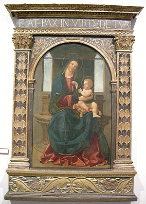 Girolamo Alibrandi - Enthroned Madonna with Child, now in the Museo Regionale di Messina