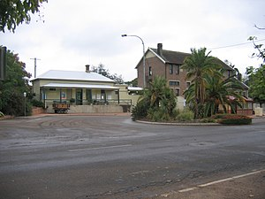 Muswellbrook railway station - Image: Muswellbrook Railway Station From Road